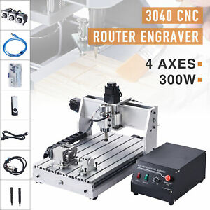 4 Axis Cnc Router Machine Wood Cutter Engraver Engraving Milling Cutting Machine