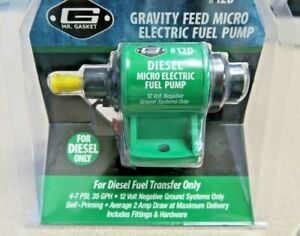 Mr Gasket Gravity Feed Micro Electric Fuel Pump 12d Diesel Only New Free Ship
