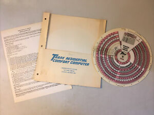 Vintage Trane Air Conditioning Residential Comfort Computer W Instructions