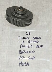 Emco Compact 8 Lathe Timing Gear 3 Speed Pulley W Bearing H25u