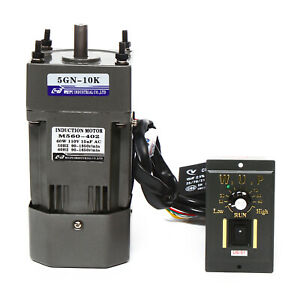 Reversible Ac Electric Gear Motor variable Speed Controller Reduction Ratio 1 10
