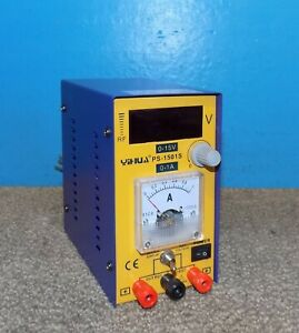 Yihua Ps 1501s Dc Variable Power Supply 0 15v 0 1 Amps Great Cond Free Ship