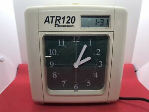 Acroprint Atr120 Electronic Top loading Time Recorder Time Clock