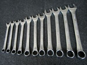 Craftsman Proffesional 11pc Metric Combination Wrench Set Made In Usa
