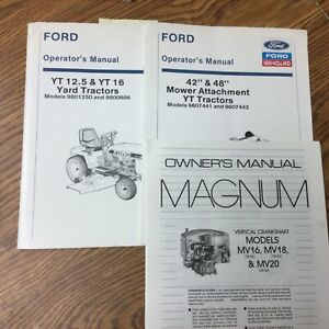 Ford New Holland Yt 12 5 16 Yard Tractor Operator Manual Operation Maintenance