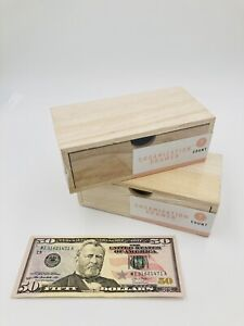 Set Of 2 Pencil And Pen Holder Office Desk Supplies Organizer Wooden W drawer