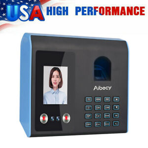 Time Clock For Employees Small Business Biometric Fingerprint Face Password W9n3