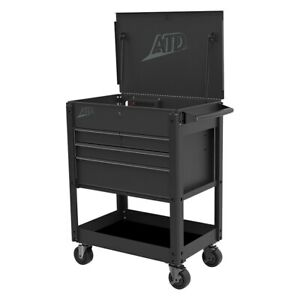 Atd 70451 Black 4 drawer Quick Assembly Deluxe Service Cart