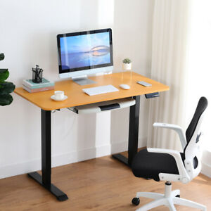 Comhoma Height Adjustable Electric Standing Desk 47 X 24 Inch Stand Up Table