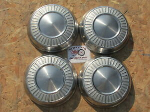 1965 1966 Plymouth Belvedere Fury Poverty Dog Dish Hubcaps Set Of 4