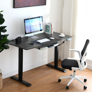 Comhoma Height Adjustable Electric Standing Desk 55 X 27 Inch Stand Up Table