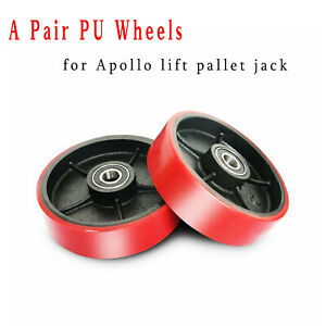Apollolift Pu Steering Wheel 7 x2 For Pallet Jack Wheel Replacement one Pair