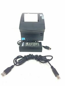Ncr Pos Thermal Receipt Printer 1634 0109 8801 With Ac Adapter usb Cable working
