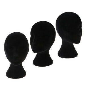 3 Pcs Styrofoam Female Mannequin Head Models Display Stand For Wigs Glasses Hats