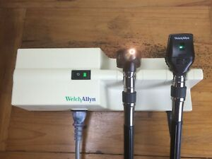 Welch Allyn Transformer Otoscope 25020 A Ophthalmoscope 11710 Diagnostic Set
