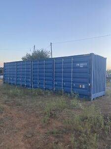 Open Side 40 High Cube One Trip Shipping Container In Midland Texas Damaged