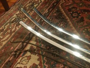 1955 Chevy Hardtop Bel Air Chrome Headliner Bows 7 Wire Bows Original