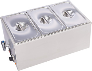 Sybo Zck165bt 3 Commercial Grade Stainless Steel Bain Marie Buffet Food Warmer S
