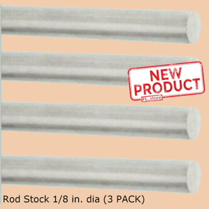 4 Pack Solid Aluminum Round Rod 1 8 X 12 Bar Stock Alloy 6061 Mill Finish New