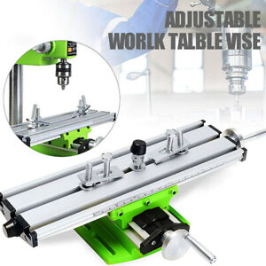 Worktable Milling Machine Table Cross Slide X Y Axis Bench Drill Press Vise Safe