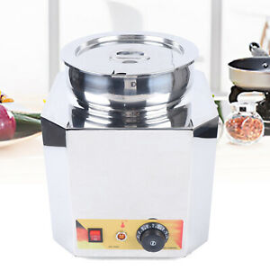110v Electric Commercial Countertop Food Warmer Steamer Stainless Steel Buffet