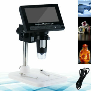4 3 1000x Lcd Monitor Electronic Digital Video Microscope 8 Led Magnifier 2021