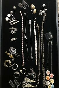 Vtg Now Sterling Silver 925 Jewelry Lot Wearable And Scrap