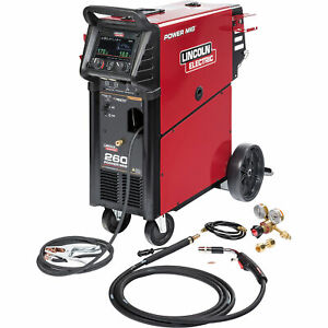 Lincoln Electric Power Mig 260 Flux cored mig Welder With Cart