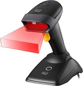 Nuscan 2500tb Commercial Wireless 2d Barcode Scanner With Charging Cradle Ant