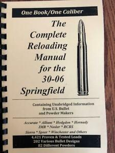 2016 THE COMPLETE RELOADING MANUAL FOR THE 30 06 SPRINGFIELD $16.00