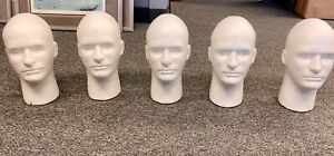 Foam Mannequin Head 5 Sold Together