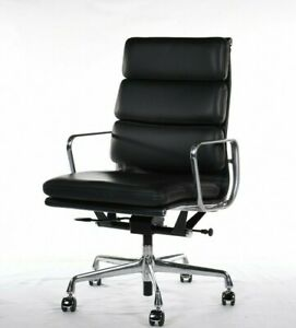 Authentic Herman Miller Eames Soft Pad Executive Chair W Lift Dwr