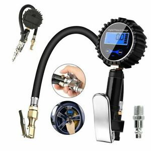 Car Digital Tire Inflator With Pressure Gauge 200 Psi Lcd Display High Accuracy