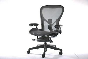 Authentic Herman Miller Aeron Chair C_size Large Design Within Reach