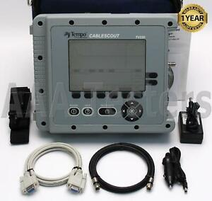 Tektronix Tempo Greenlee Cablescout Tv220 Coax Catv Tdr Cable Tester Tv 220