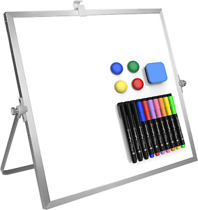 Dry Erase White Board 12 X 12 Large Magnetic Desktop Whiteboard With Stand