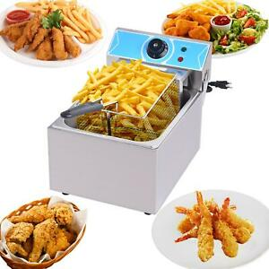 10l Single Screen Electric Fryer Set Commercial Household French Fries Delicious