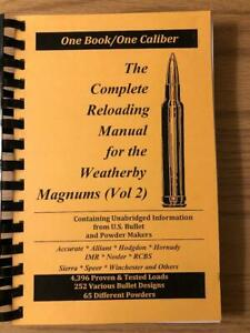 2016 THE COMPLETE RELOADING MANUAL FOR THE WEATHERBY MAGNUMS VOLUME 2 $19.00