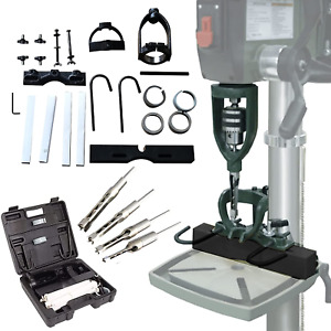 Twsoul Bench Drill Locator Set Square Hole Chisel Drilling Machine Woodworking