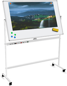60 x36 Dry Erase Board With Stand double sided Magnetic Rolling Whiteboard With