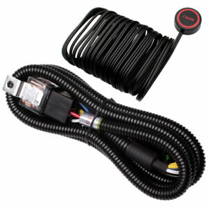 12v Car Horn Wire Harness With Button Switch For Car Truck Train Suv Air Horns