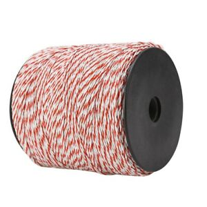 Portable Electric Fence Polywire 1640 Feet 500 Meter White And Red Color