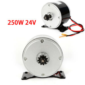 New Electric Brushed Dc Motor 250w 24v For E bike Scooter Go kart Replacement