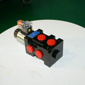 12v Dc Hydraulic Solenoid Selector diverter Valve 13 Gpm 10 Sae 6ports 13gpm Z