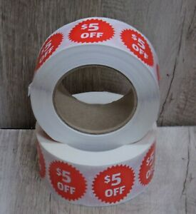5 00 Off Roll Of Stickers about 500 2 Rolls