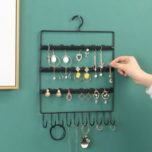 Wall Earring Jewelry Organizer Hanging Holder Necklace Display Stand Rack R Fj
