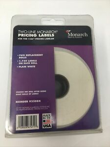 Monarch Two line Pricing Labels For The 1136 Labeler 2 Rolls Of 1750 Each Roll
