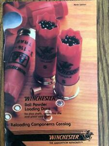 1985 WINCHESTER BALL POWDER RELOADING MANUAL NINTH EDITION $11.00