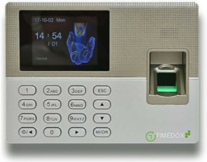 Timedox Silver Biometric Fingerprint Time Clock For Employees 0 No Monthly Fee