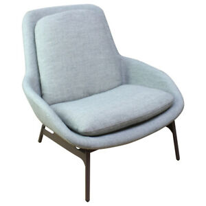 Blu Dot Field Lounge Fabric Upholstered Modern Chair Grey Preowned